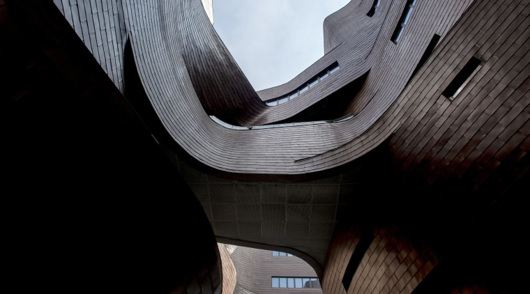 The void in the Xian Jiaotong-Liverpool University Administration architecture, photography, product design, black