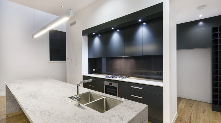 Helix is one of the new natural quartz countertop, interior design, kitchen, real estate, gray
