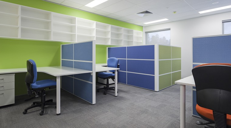 Resene colours enliven the interior of the new desk, furniture, interior design, office, product design, gray