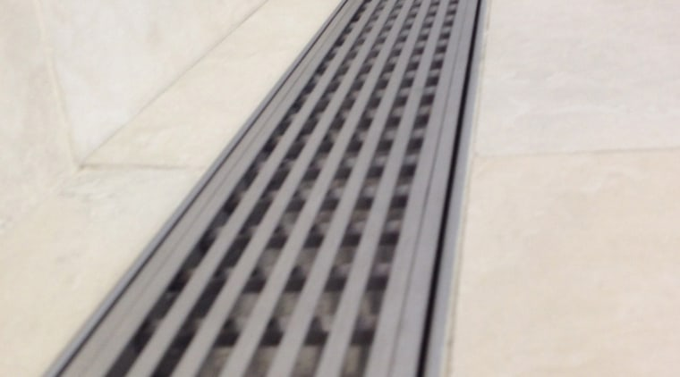 Luxe Linear Drains drain accessory, floor, flooring, line, product design, white, gray