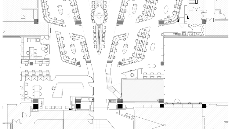 Symmetry defines the design of the new control angle, area, artwork, black and white, design, diagram, drawing, floor plan, font, line, line art, plan, product design, structure, technical drawing, text, white