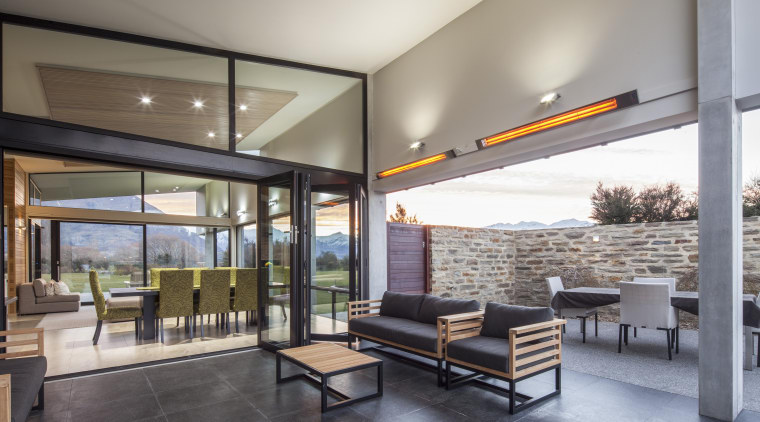 Floor-to-ceiling windows are triple glazed in this house architecture, ceiling, house, interior design, living room, lobby, real estate, window, gray
