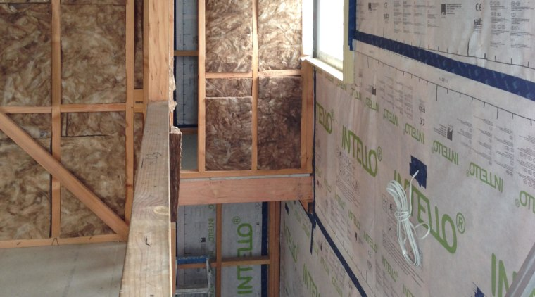 Pro Clima membrane systems from Germany provide a floor, wall, wood, gray