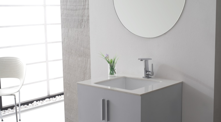 Exquisite Collection of faucets from Kraus introduces new angle, bathroom, bathroom accessory, bathroom cabinet, bathroom sink, ceramic, interior design, plumbing fixture, product, product design, room, sink, tap, toilet seat, gray, white
