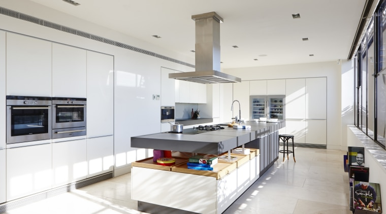 This new kitchen is the social heart of countertop, interior design, kitchen, white