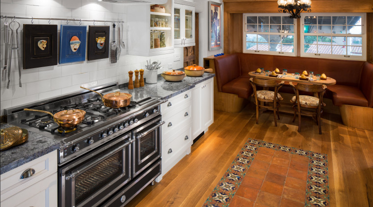 The remodel of this kitchen by Elina Katsioula-Beall countertop, cuisine classique, flooring, interior design, kitchen, room, brown, gray
