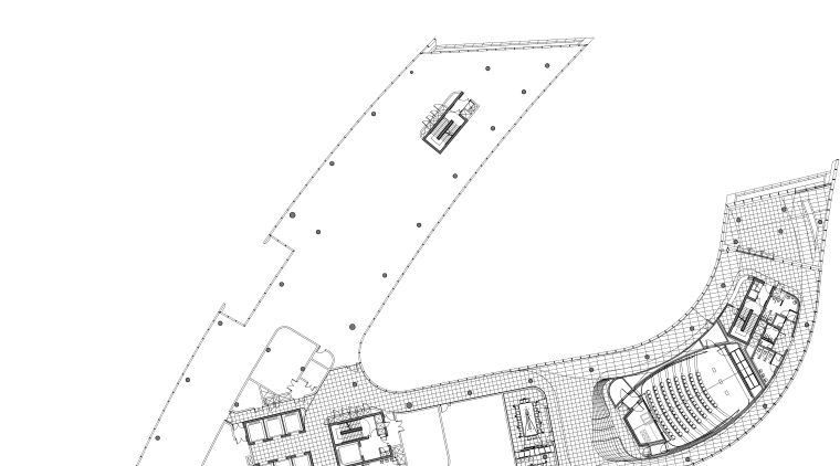 The plan of the ground level of the angle, area, black and white, design, diagram, drawing, line, plan, product design, structure, white
