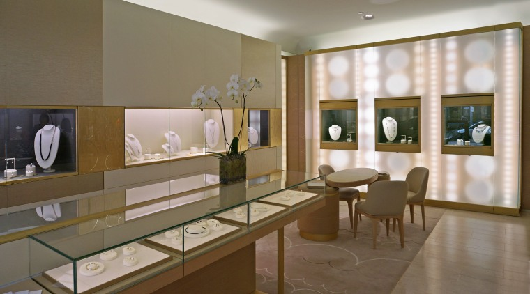 Animated LED lighting on both the exterior and ceiling, exhibition, interior design, lobby, brown, gray