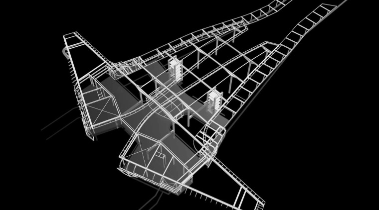 This diagram highlights the steelwork on the new black and white, design, font, line, monochrome, monochrome photography, pattern, product design, string instrument, structure, black