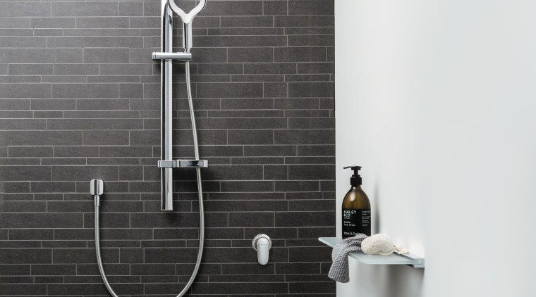 The Aurajet showerhead by Methven has revolutionised the bathroom, plumbing fixture, product design, shower, tap, wall, black, white