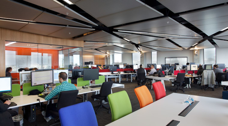 Canam Interiors undertook several tenancy fit-outs at Lot institution, interior design, office, gray, black
