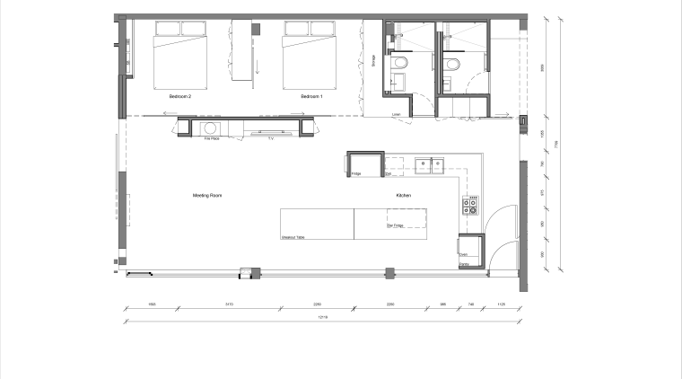 Plan of new apartment within a converted warehouse, angle, area, design, diagram, drawing, floor plan, font, line, plan, product design, text, white