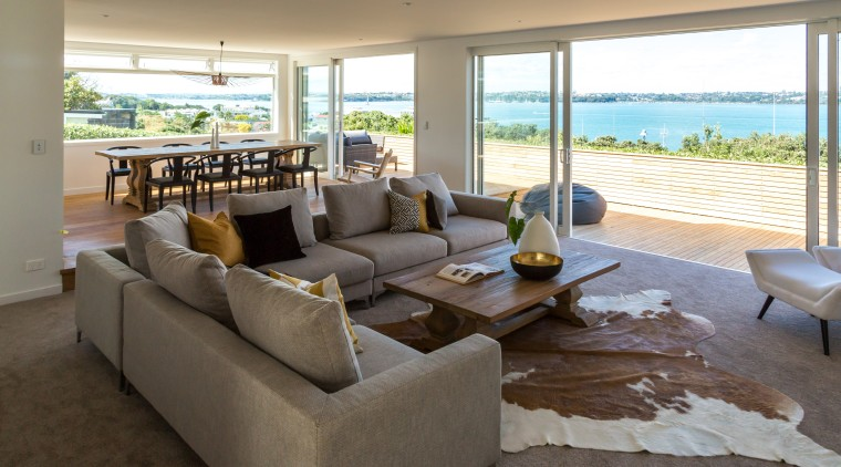 Traditional exterior renovation with modern interior on Devonport floor, flooring, furniture, home, house, interior design, living room, property, real estate, gray