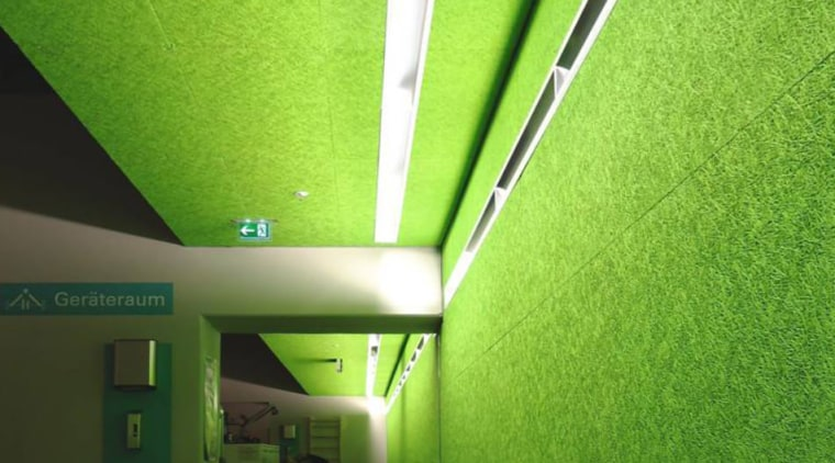 Sound insulation is essential in a large home angle, architecture, ceiling, daylighting, grass, green, light, lighting, line, structure, green