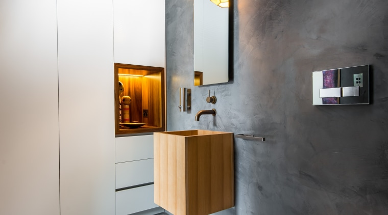 A Wall Niche In Tasmanian Blackwood Is In Architecture, Bathroom, Floor,  Interior Design