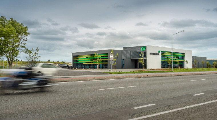 The head office for agriculture fertiliser company Ravensdown architecture, asphalt, building, car, house, infrastructure, metropolitan area, real estate, residential area, road, sky, transport, vehicle, gray