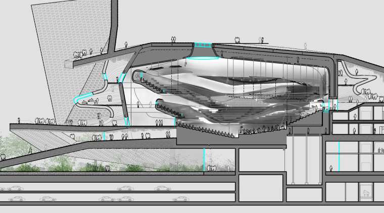 The original design brief for the Philharmonie de architecture, building, elevation, engineering, naval architecture, product design, structure, urban design, white