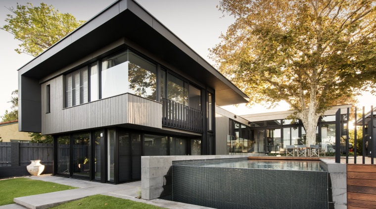 View Street House by DTDA took the top architecture, building, estate, facade, home, house, property, real estate, residential area, black