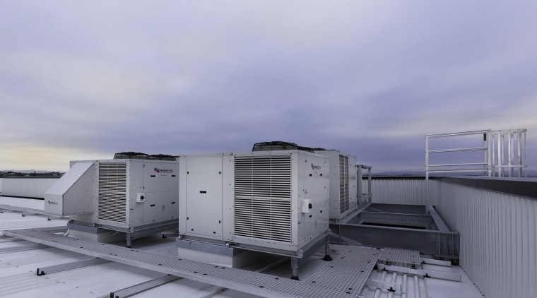 Temperzones air conditioning solutions for NorthWest Shopping Centre roof, sky, teal