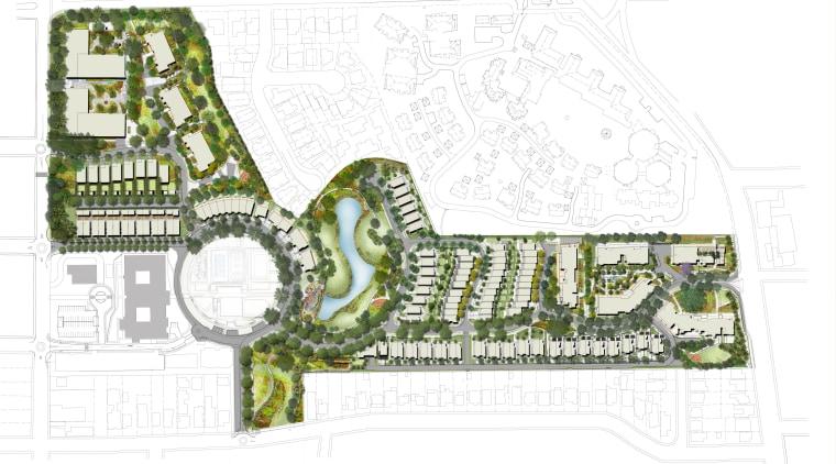 Urban oasis Putney Hill, a new housing development area, floor plan, land lot, mixed use, plan, residential area, urban design, white