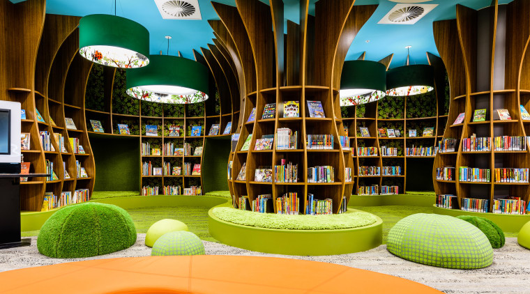 Trees of learning  any child would gravitate institution, interior design, library, product, public library