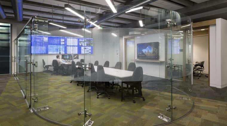 The media centre in Fonterras headquarters. brown, gray