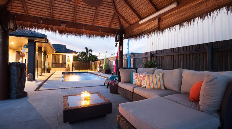 Narellan Pools creates domestic swimming pools in a estate, interior design, patio, property, real estate, red