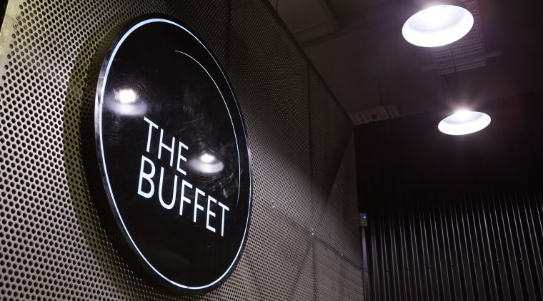 The interior design for The Buffet Korean restaurant automotive design, darkness, light, lighting, night, black
