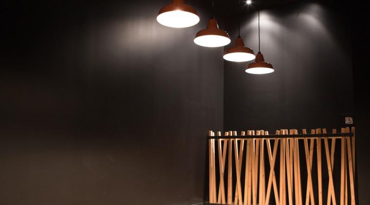 The Buffet Korean restaurant in Albany presents a ceiling, daylighting, lamp, light, light fixture, lighting, product design, black