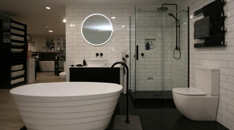 The luxury Elite Quartz Stone range from Elite bathroom, floor, home, interior design, plumbing fixture, product design, room, tile, gray, black