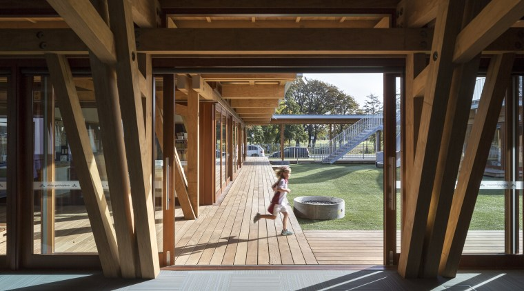 Class of its own  Cathedral Grammar Junior architecture, deck, door, house, outdoor structure, porch, window, wood, brown