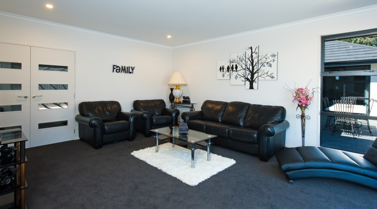 This homes living spaces feel even larger, thanks interior design, living room, property, real estate, room, gray, black