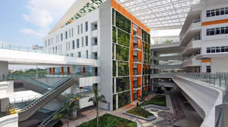 Singapores ITE College Central includes one of the apartment, architecture, building, condominium, corporate headquarters, metropolitan area, mixed use, real estate, white, gray