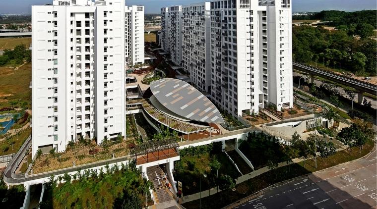 The Treelodge@Punggol eco precinct is Singapores first Green apartment, bird's eye view, building, city, condominium, corporate headquarters, metropolis, metropolitan area, mixed use, neighbourhood, real estate, residential area, suburb, tower block, urban area, urban design, brown