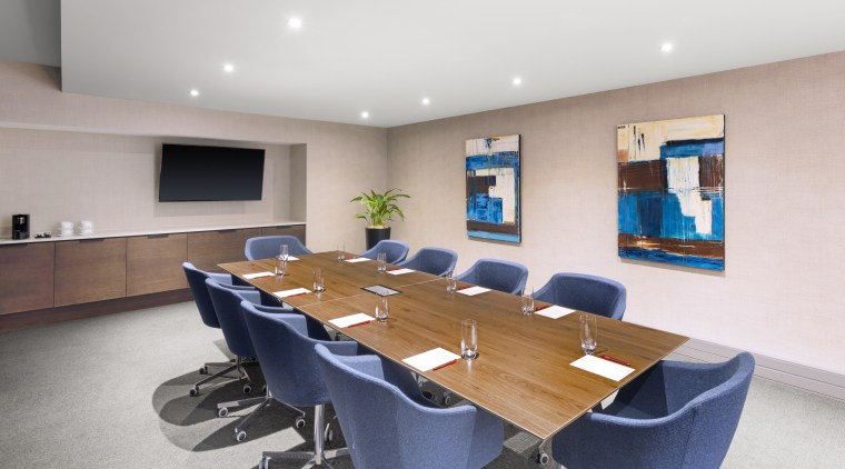 Access to contemporary board room facilities is just conference hall, interior design, office, property, real estate, table, gray