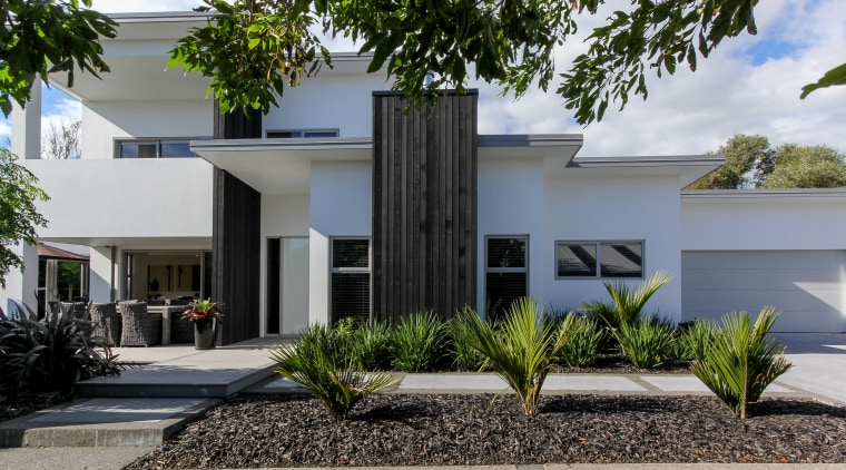 A plasma aluminium front door with glass side architecture, estate, facade, home, house, property, real estate, residential area, gray
