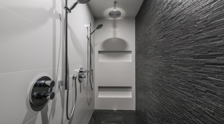 Smooth, white Italian porcelain tiles with minimal grouting architecture, bathroom, black and white, interior design, monochrome, plumbing fixture, room, tile, gray, black