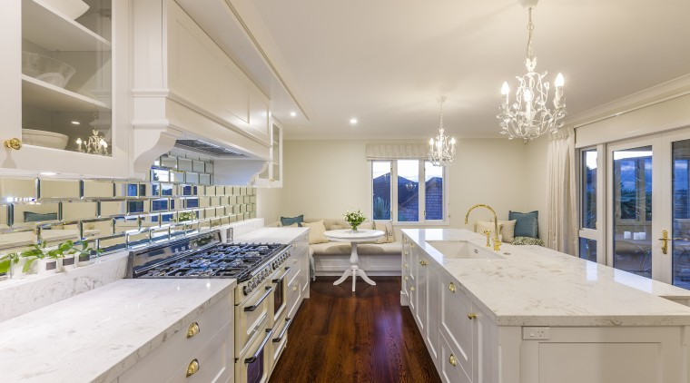 This kitchen renovation by award-winning designer Kira Gray ceiling, countertop, estate, home, interior design, kitchen, real estate, room, gray