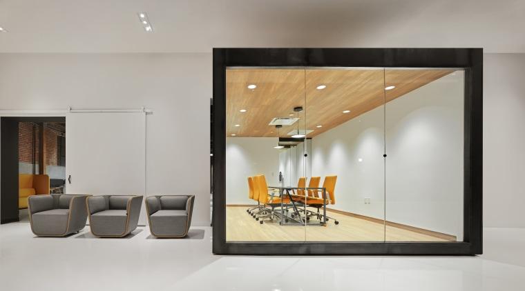 Designed by Cory Grosser + Associates, Supplyframe DesignLab ceiling, interior design, product design, gray