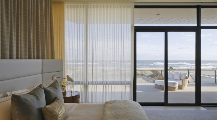The master bedroom opens directly to the beautiful