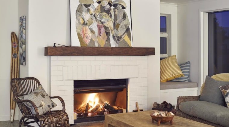 Auckland-based Fires by Design carries a wide variety fireplace, hearth, home, interior design, living room, room, wall, wood burning stove, white, gray