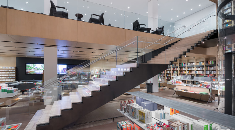 Interior view of The Museum of Modern Art, architecture, building, interior design, outlet store, retail, shopping mall, supermarket, gray