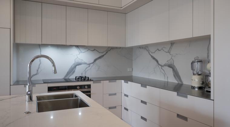 Making a splash – impervious to heat, stains, architecture, countertop, interior design, kitchen, under cabinet lighting, Florim Stone, Archant