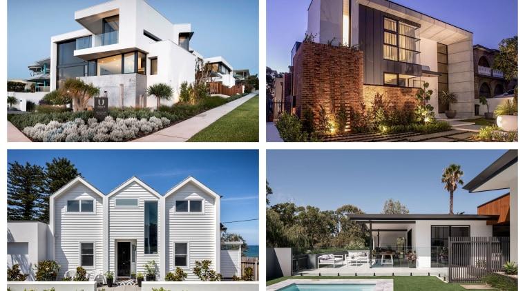 2019 AU TIDA Homes Designer Finalists - architecture architecture, building, condominium, estate, facade, home, house, land lot, property, real estate, residential area, roof, room, urban design, window, white