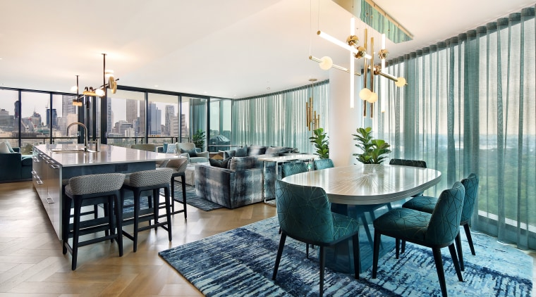 Dining area post renovation. - Your apartment, but