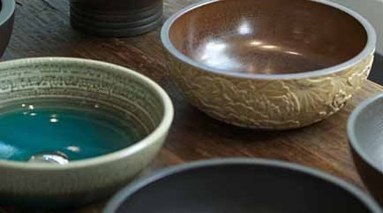 The Zen Basin from Robertson bowl, ceramic, dishware, pottery, tableware, brown, black