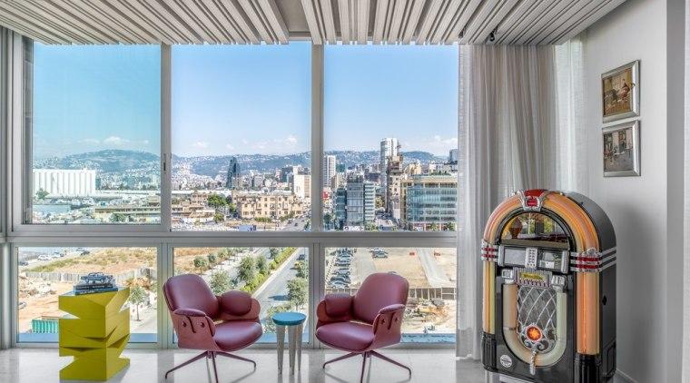 Mediterranean stylings, avant-garde furniture and even pop culture interior design, real estate, window, gray