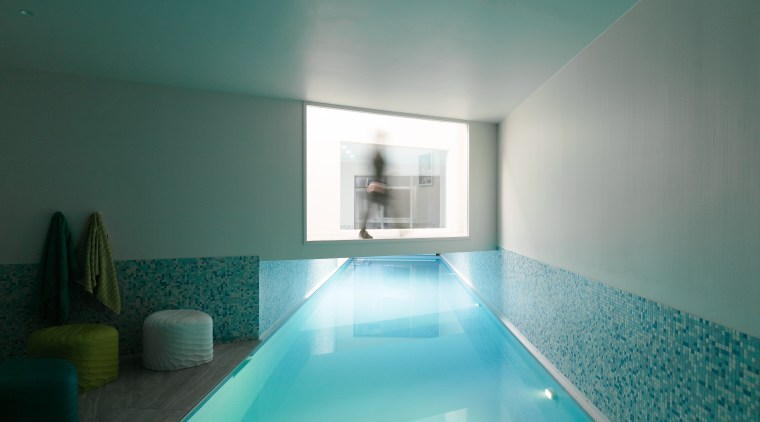 The pool area was reinvented with a design