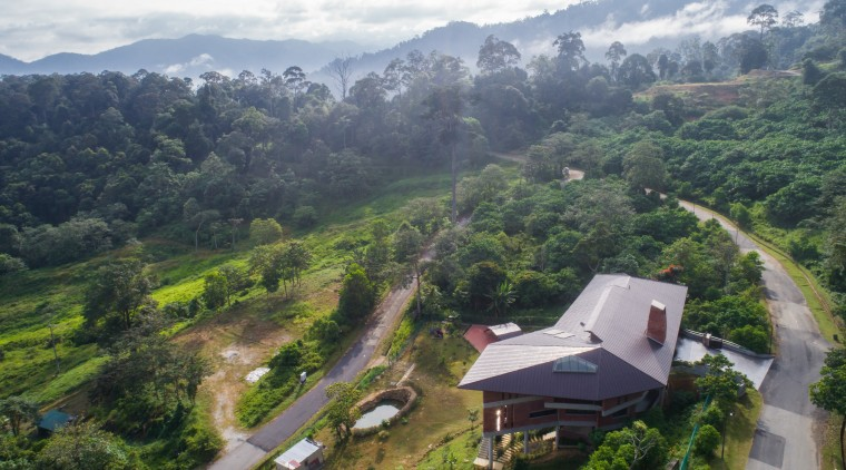 The owners requested homes that suited the cooler aerial photography, bird's-eye view, geological phenomenon, highland, hill, hill station, jungle, landscape, mount scenery, mountain, mountain village, mountainous landforms, rainforest, rural area, sky, vegetation, village, gray