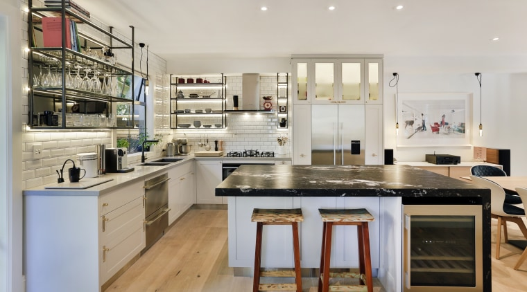 The owners of this home wanted a kitchen cabinetry, countertop, cuisine classique, interior design, kitchen, gray